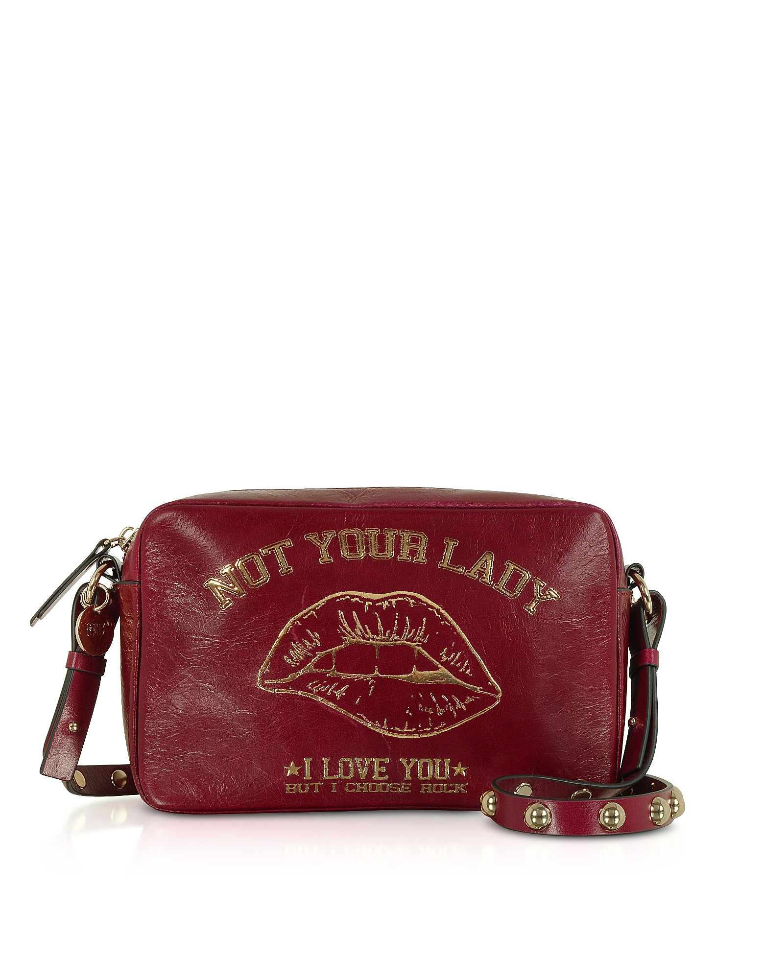 Not Your Lady Dark Red Crossbody Bag