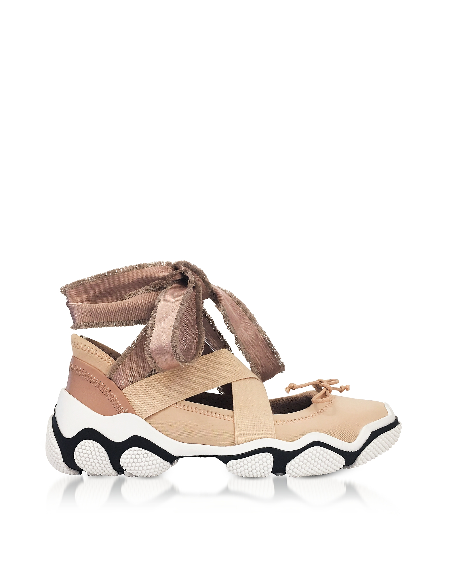 RED Valentino Shoes, Nude Criss Cross Sneakers