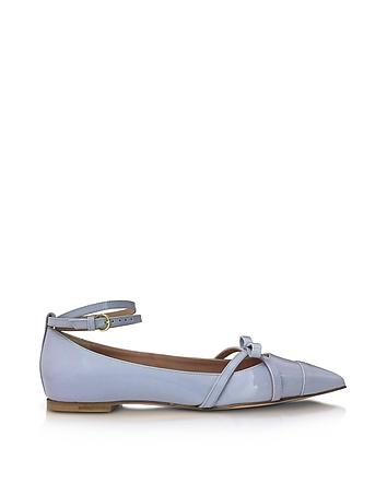 RED Valentino - Ortensia Blue Patent Leather Ballerinas