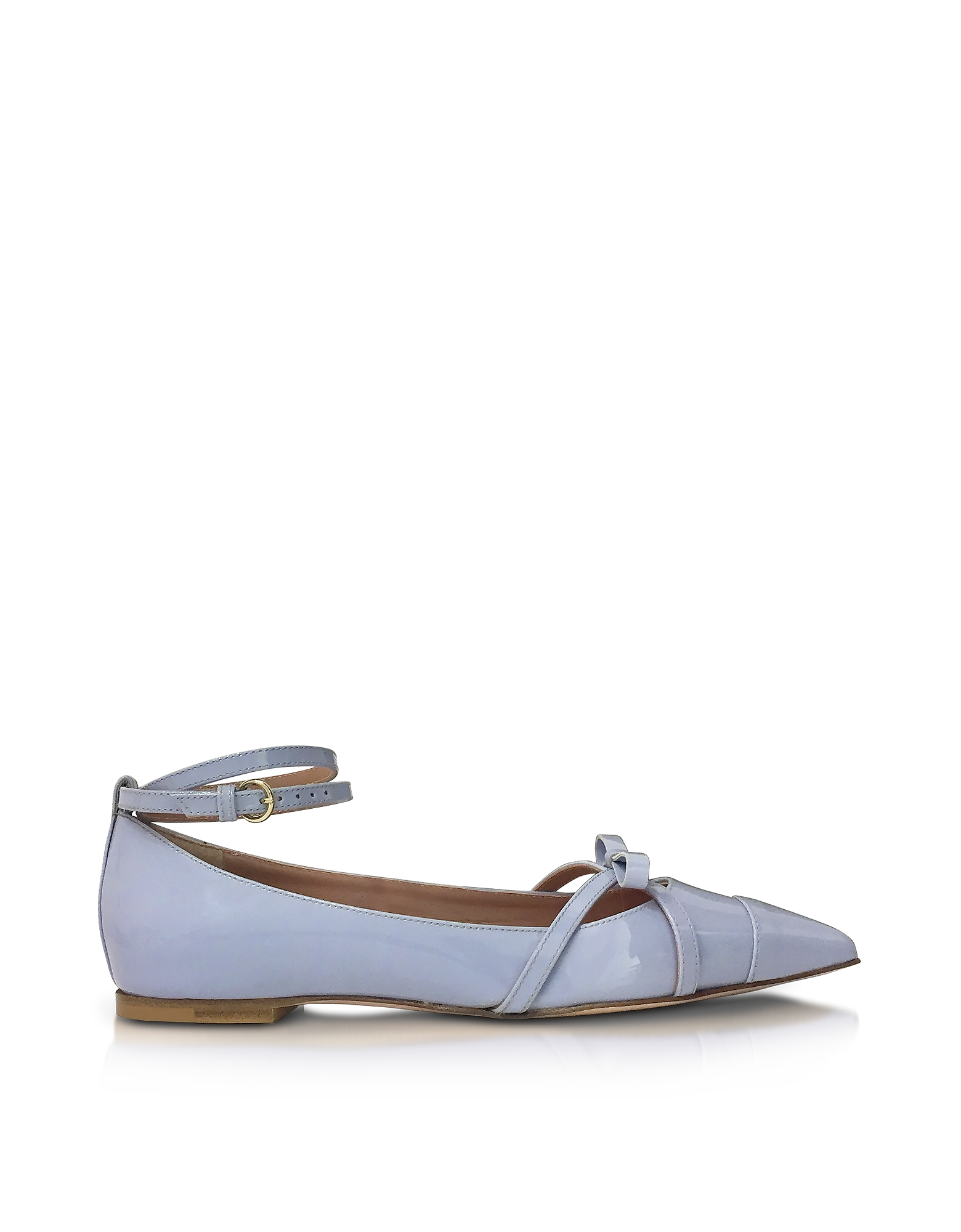 RED Valentino Shoes, Ortensia Blue Patent Leather Ballerinas