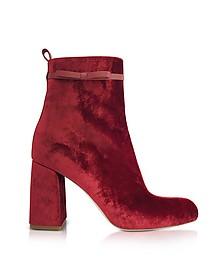 Red Velvet High Heel Bootie - RED Valentino