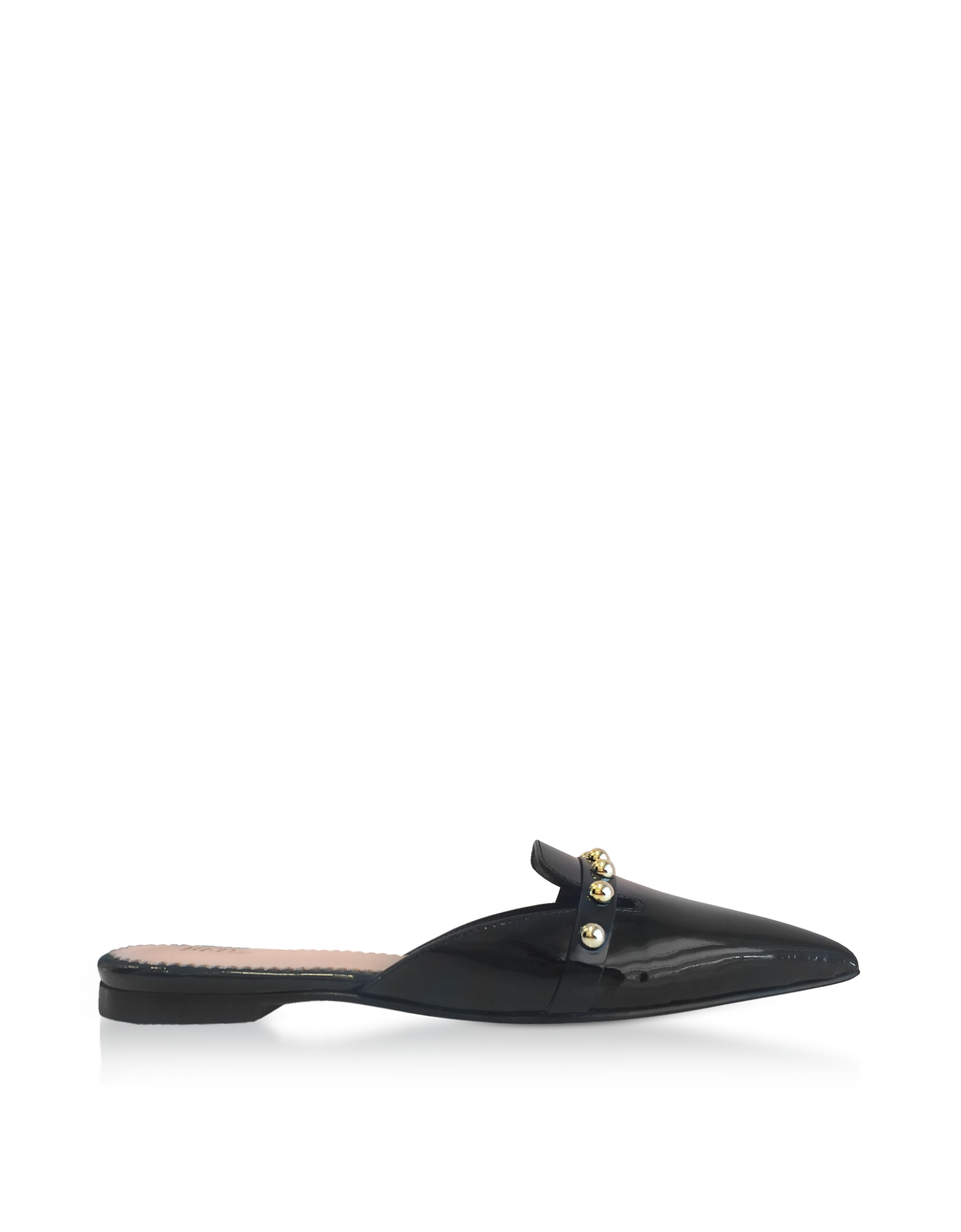 Black Patent Leather Pointy Mules