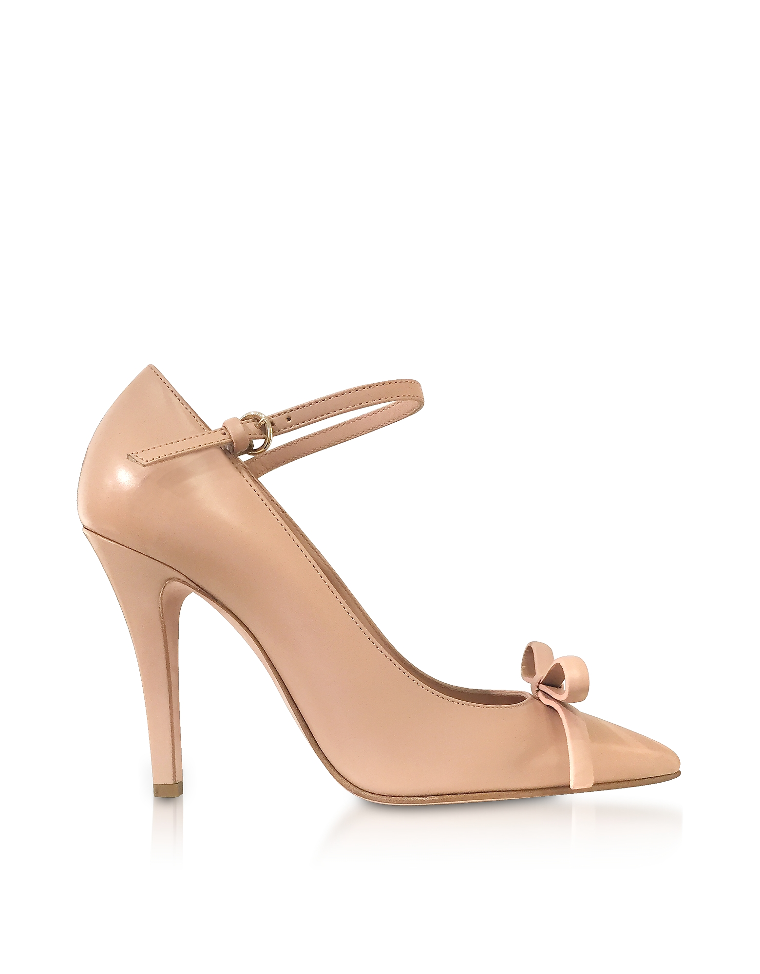 RED Valentino Shoes, Nude Patent Leather Bow Pumps