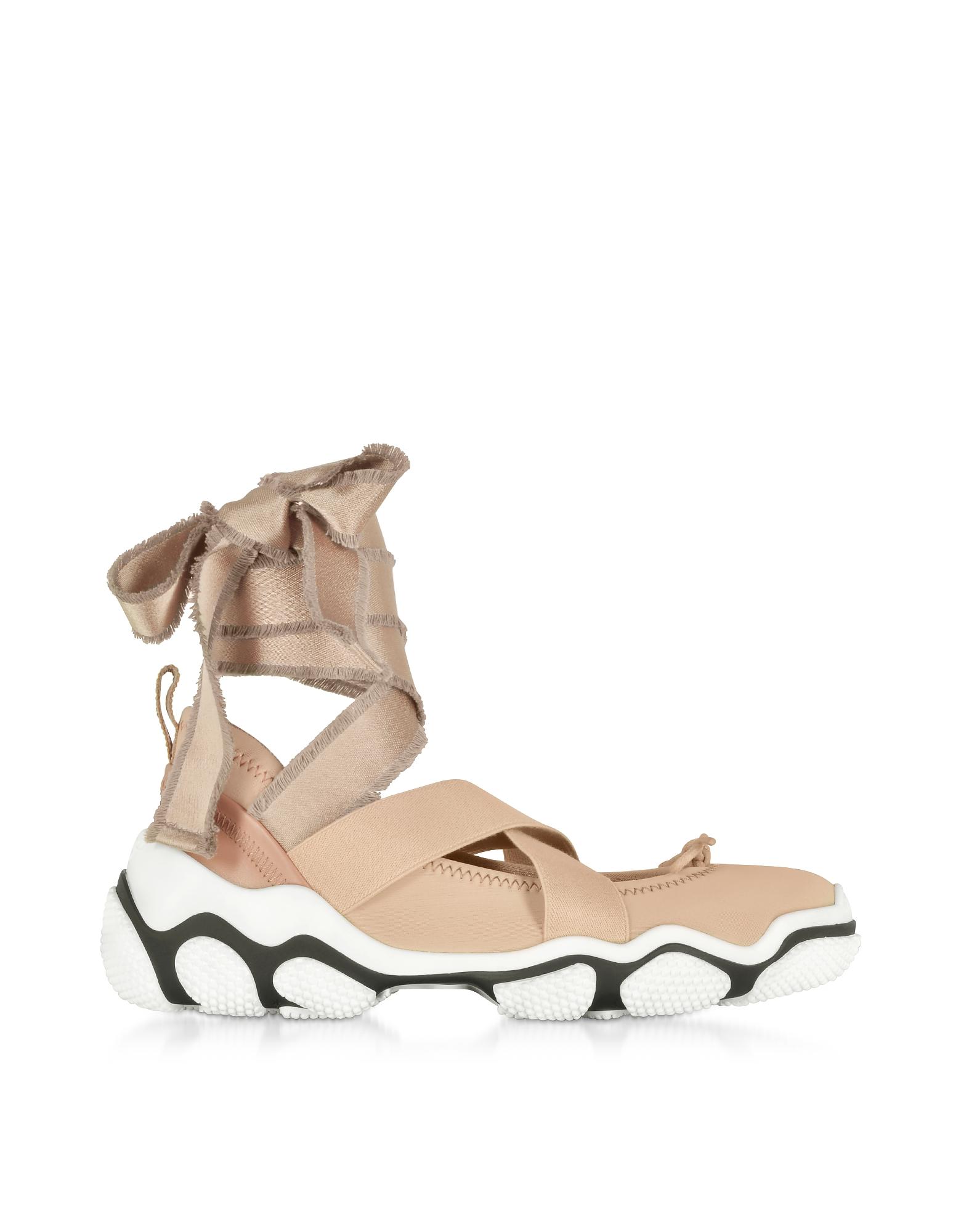 Nude Nylon Criss Cross Women's Sneakers