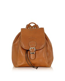 Camel Italian Leather Backpack - Robe di Firenze