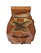 Camel Italian Leather Backpack - Robe di Firenze