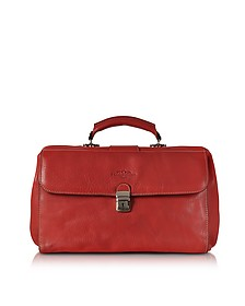 Red Medium Genuine Italian Leather Doctor Bag - Robe di Firenze