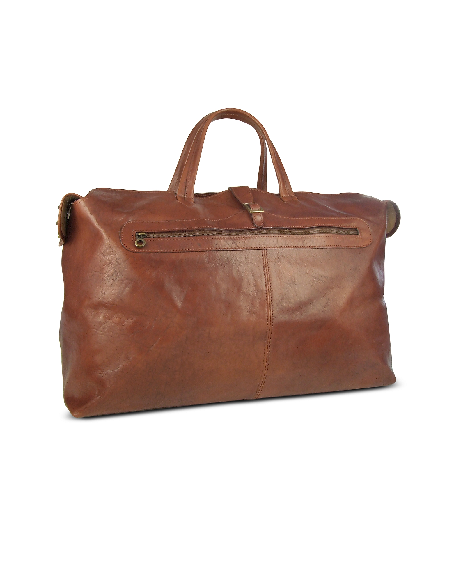 Robe di Firenze Travel Bags, Large Brown Italian Leather Carry All Travel Bag