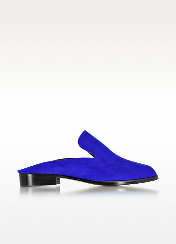 Alicem Klein Blue Suede Mule - Robert Clergerie
