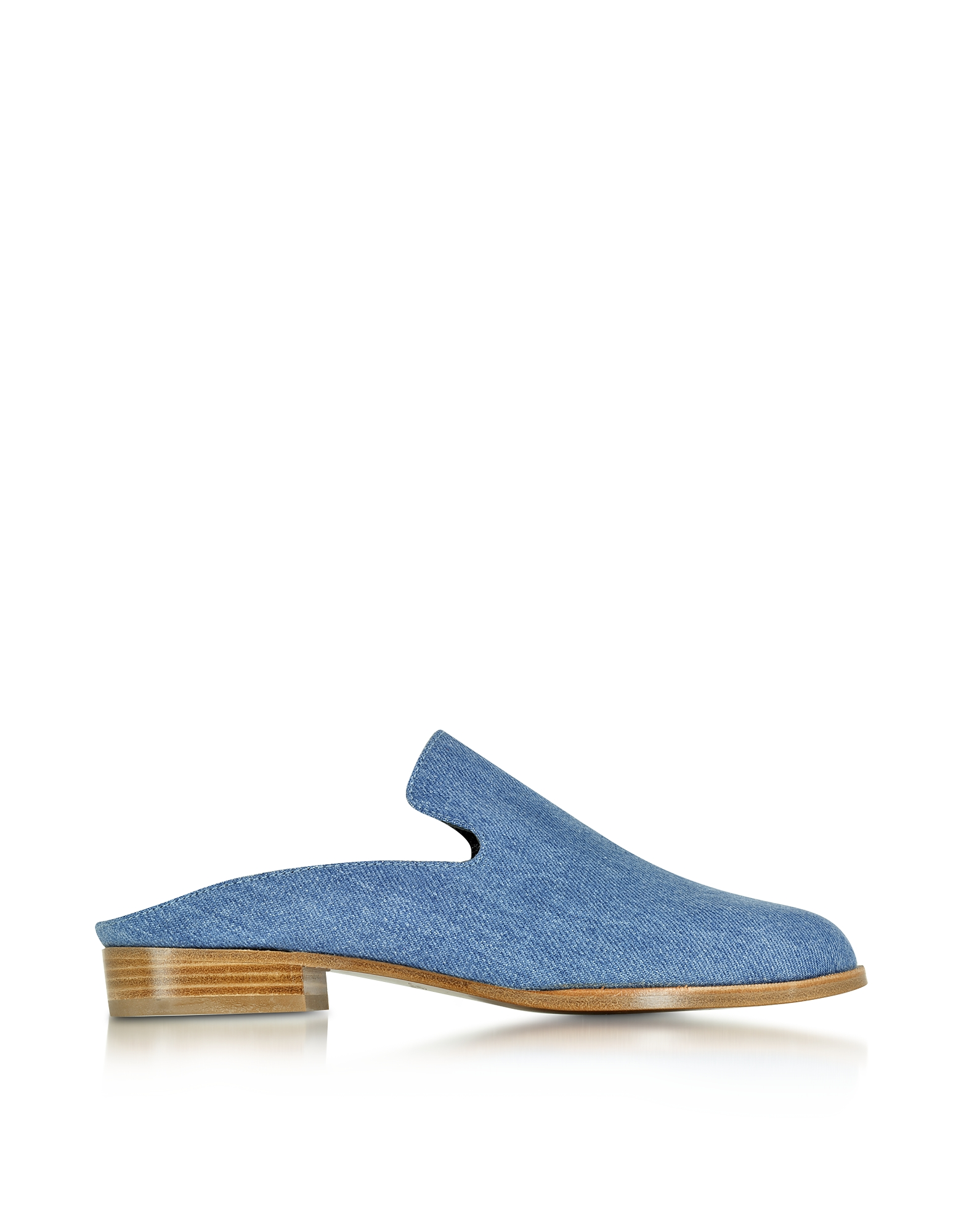 Robert Clergerie Shoes, Alicet Blue Denim Mule