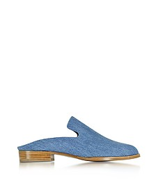 Alicet Blue Denim Mule - Robert Clergerie