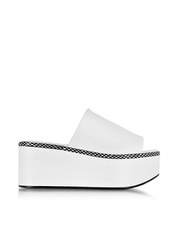 Robert Clergerie - Flore White Leather Platform Sandal
