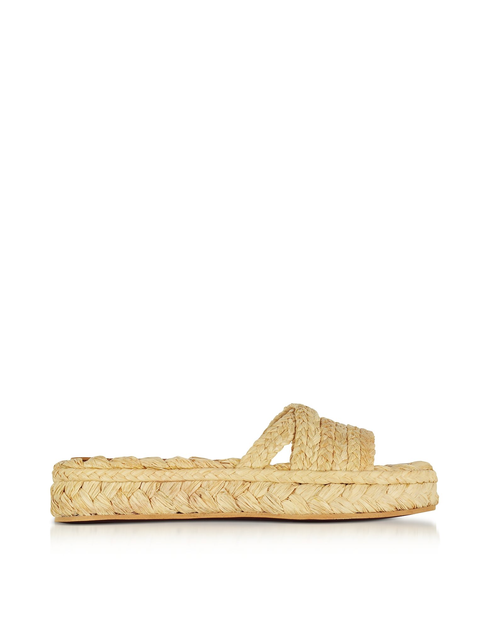 Robert Clergerie Shoes, Idalie Natural Braided Raffia Flat Sandals
