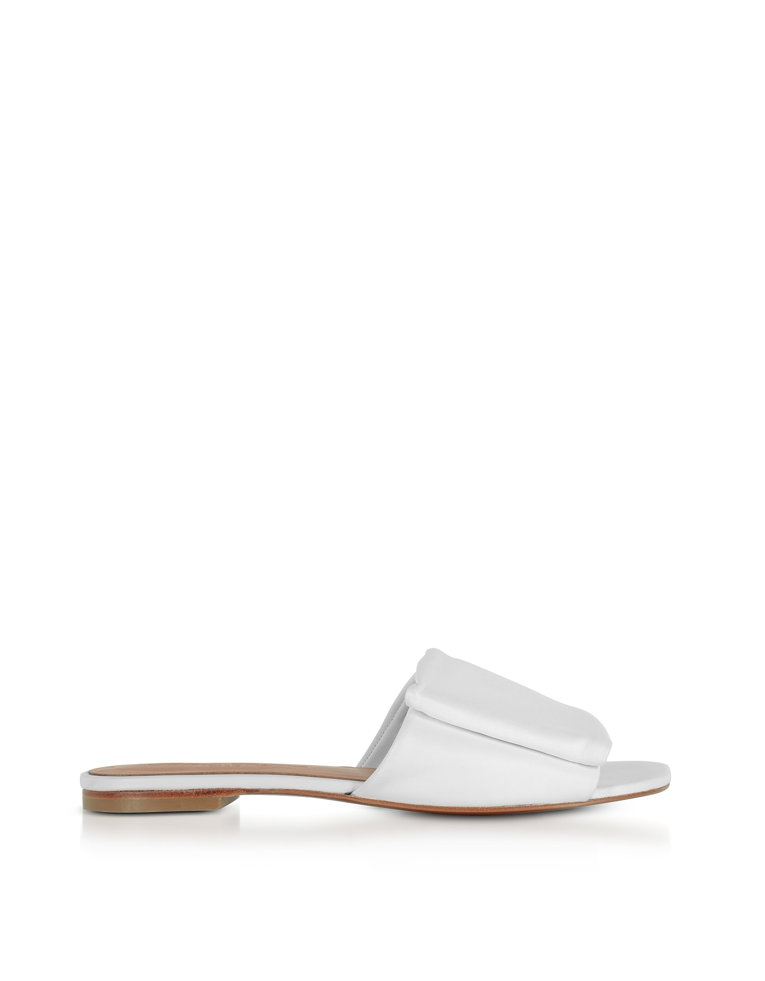 Robert Clergerie Shoes, Igad White Leather Flat Sandals
