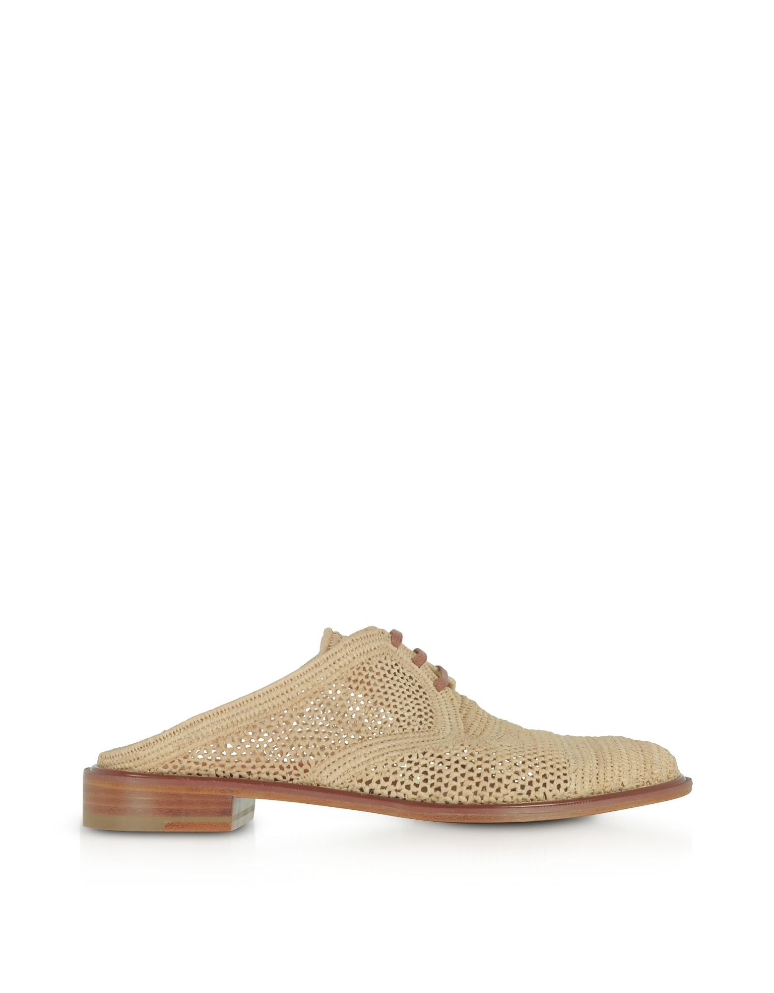 Robert Clergerie Shoes, Jaly Natural Woven Raffia Flat Mules