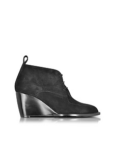 Orso Black Suede Wedge Bootie - Robert Clergerie