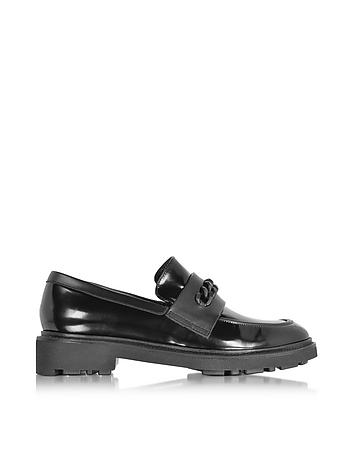 Jate Black Leather Loafer