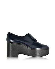 Xonca Marine Blue Patent Leather Platform Oxford Shoe - Robert Clergerie