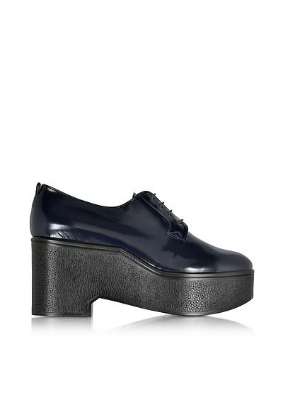 Xonca Marine Blue Patent Leather Platform Oxford Shoe - Robert Clergerie