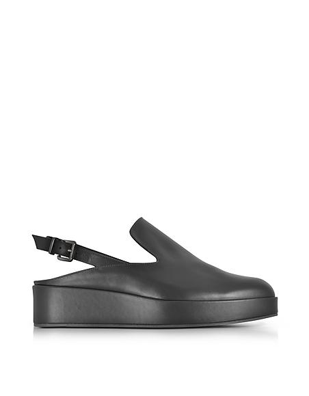 Robert Clergerie Nalice flache Sandale aus Leder in schwarz