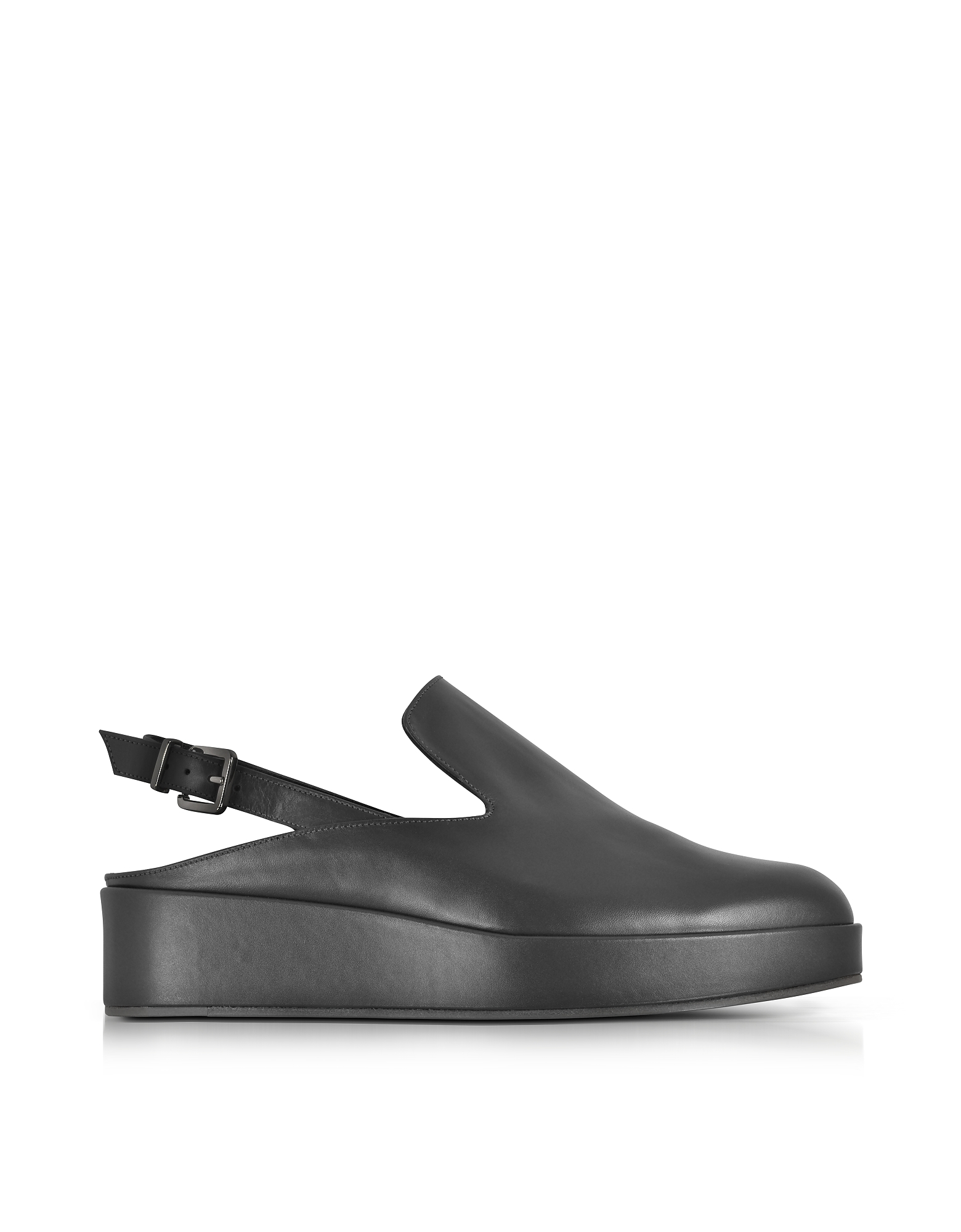 Robert Clergerie Shoes, Nalice Black Leather Flatform Sandals