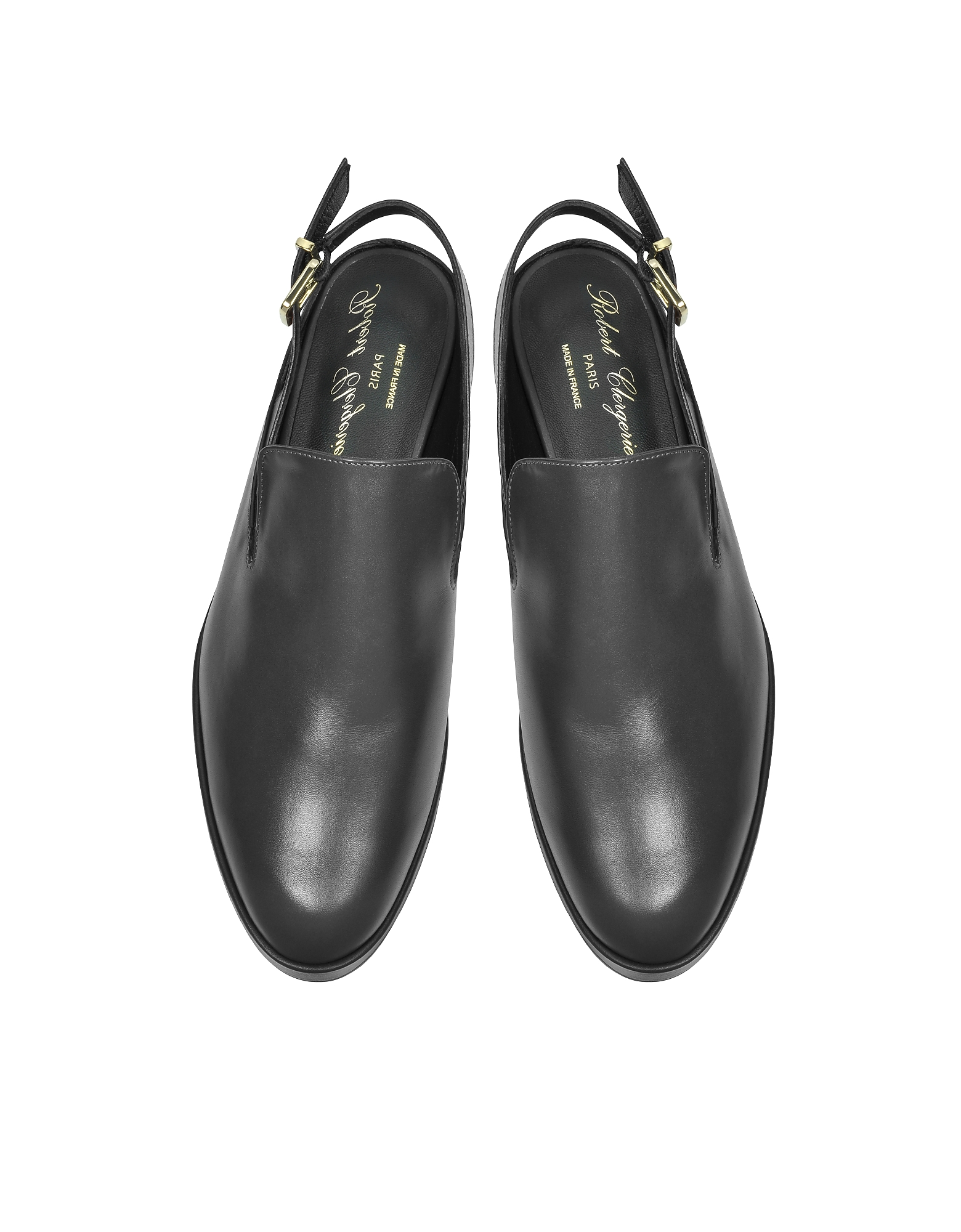 Фото Nalice - Черные Кожаные Сандалии на Плоской Платформе. Купить с доставкой