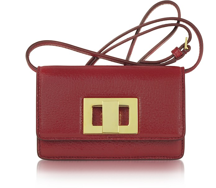 Severine - Small Leather Shoulder Bag - Rochas