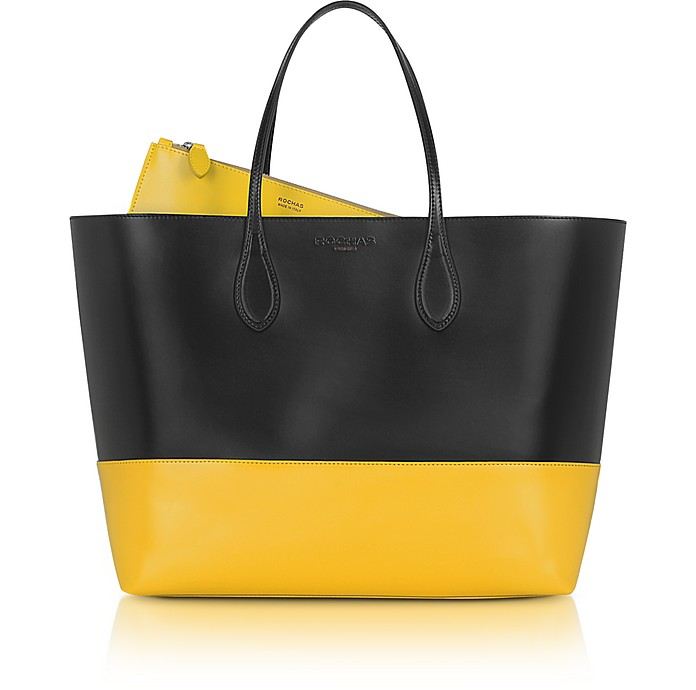 Two-Tone Leather Tote - Rochas