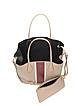 Striped Top Handle Leather Tote - Rochas