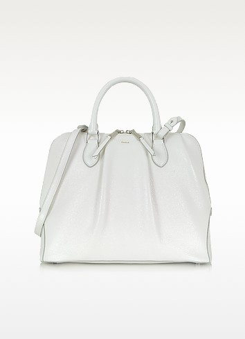 Sporty Leather Deerskin Bowler Bag - Rochas