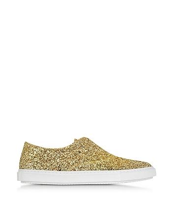 Fratelli Rossetti - Gold Glitter Slip On Sneaker