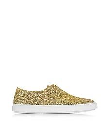 Gold Glitter Slip On Sneaker - Fratelli Rossetti