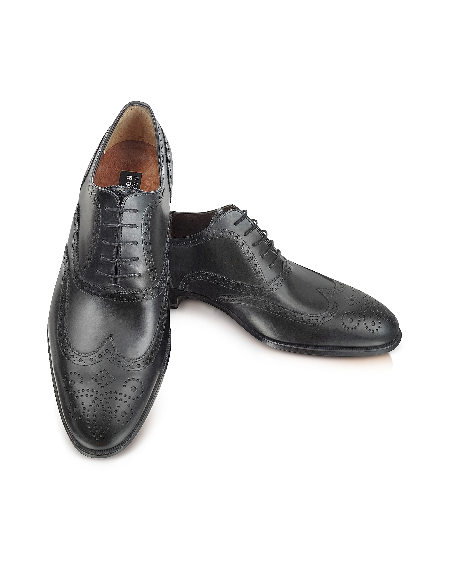 Image of Fratelli Rossetti Designer Shoes, Anilcalf - Black Leather Oxford