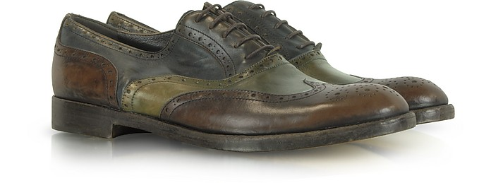 Color Block Leather Oxford Shoe - Fratelli Rossetti