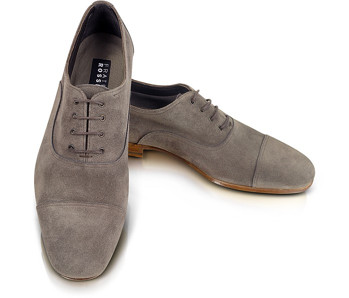 Azir - Gray Suede Oxford - Fratelli Rossetti