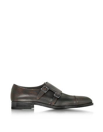 Fratelli Rossetti - Tobacco Leather Men's Monk Strap Shoe