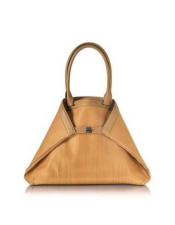 Ai Small Camel Horsehair Tote Bag