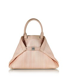 Ai Small Pale Rose Horsehair Tote Bag - Akris