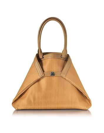 Akris - Ai Medium Camel Horsehair Tote Bag