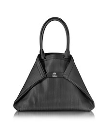 Ai Medium Black Horsehair Tote Bag - Akris
