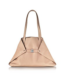 Ai Small Pale Rose Leather Tote Bag - Akris
