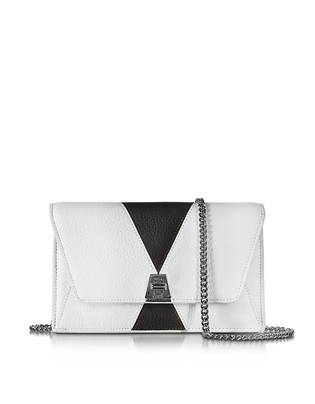 Image of Akris Anouk Borsa in Pelle Color Block Black&White