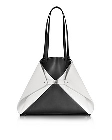 Ai Medium Black and White Reversible Leather Tote bag - Akris