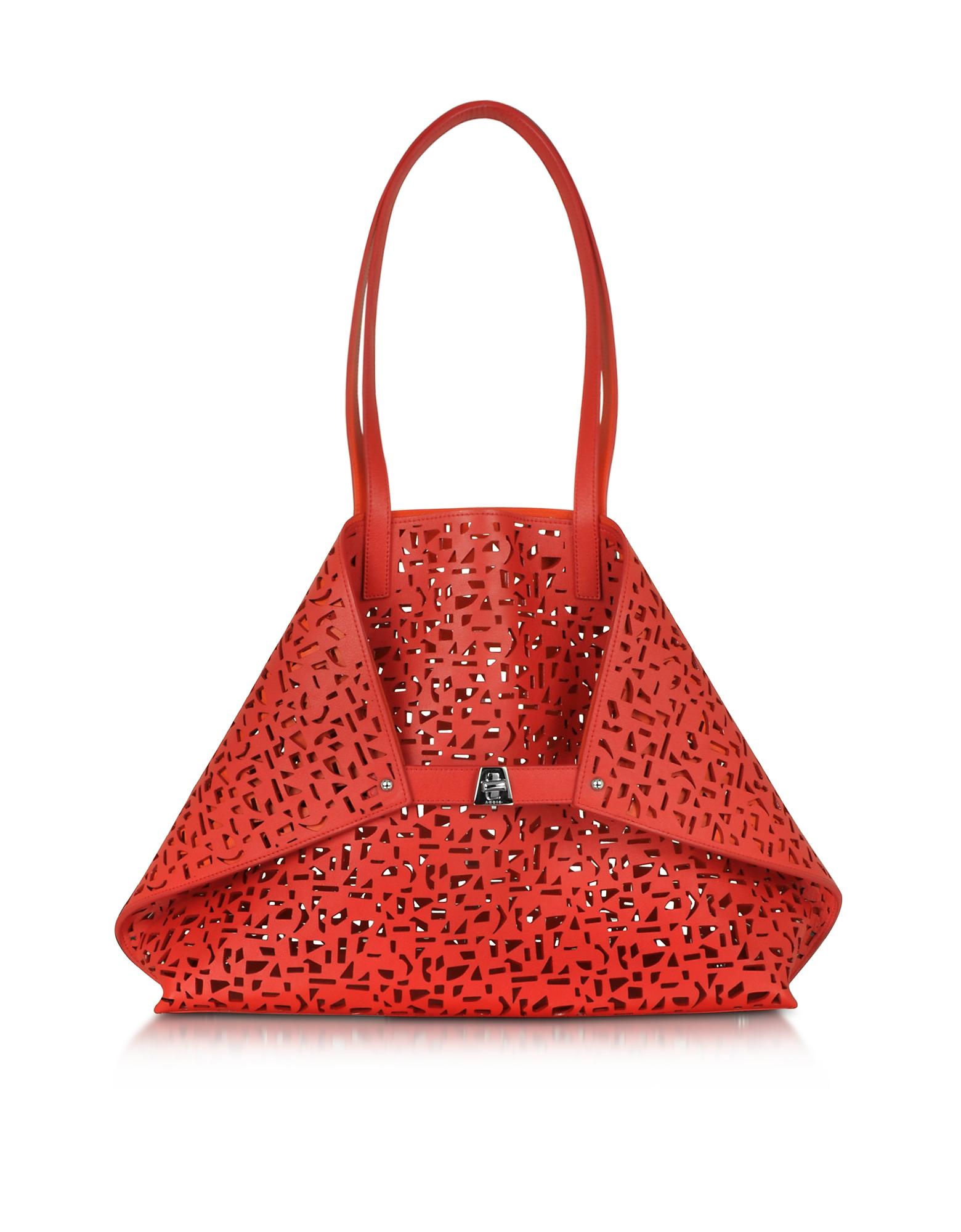 Image of Ai Medium Shopper Scarlet/Zinnia Cut Out