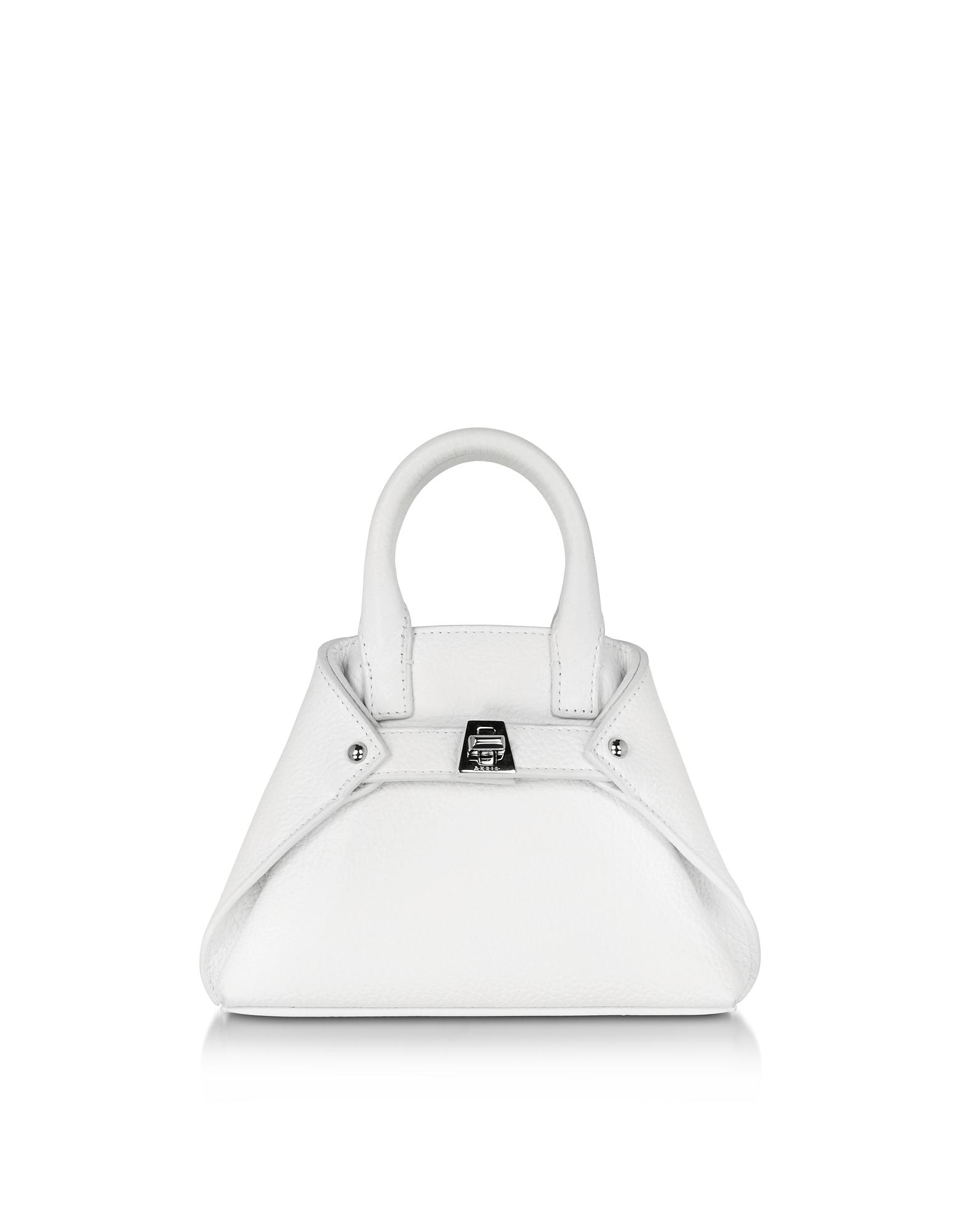 Ai Micro Crossbody Bag in Pelle Bianco Ottico