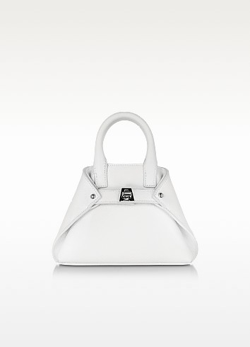 White Leather Micro Ai Crossbody Bag - Akris