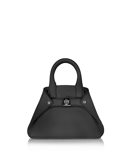 Image of Akris Ai Micro Crossbody Bag in Pelle Nera