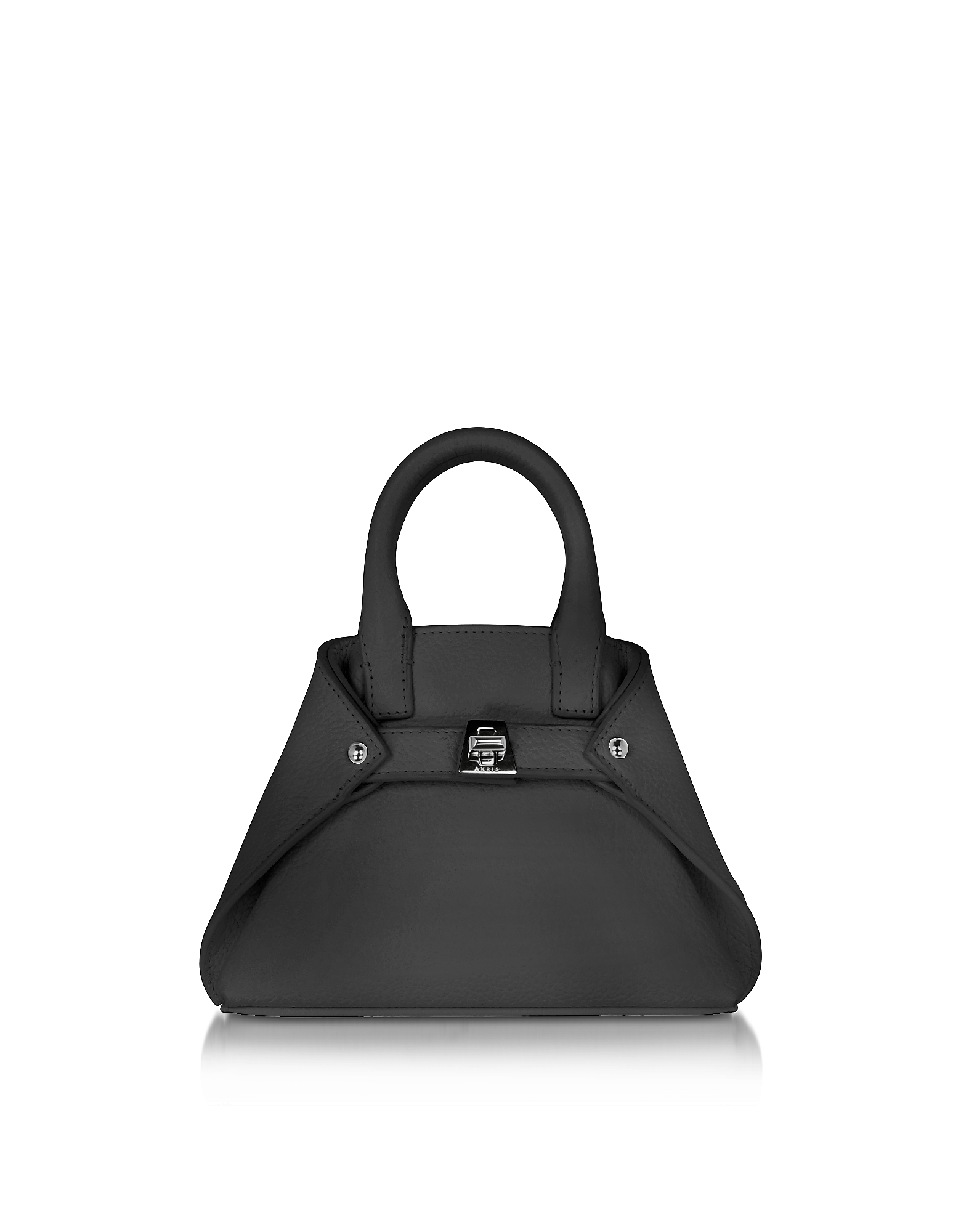 Akris Handbags, Black Leather Micro Ai Crossbody Bag