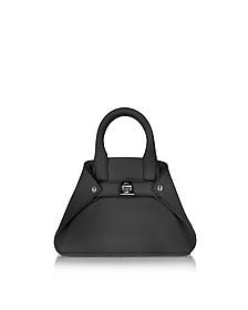 Black Leather Micro Ai Crossbody Bag - Akris
