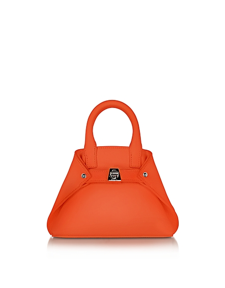 Image of Akris Ai Micro Crossbody Bag in Pelle Zinnia
